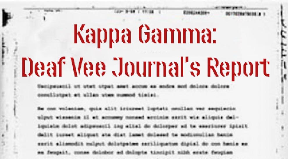 Kappa Gamma: The Good, Bad & Ugly