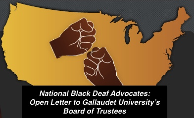 NBDA Demands an Inclusive Deaf President Now