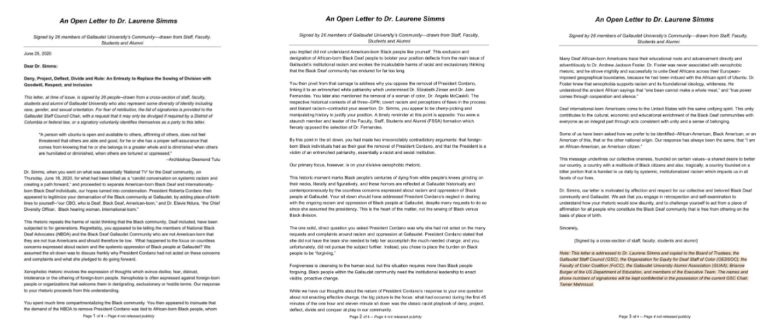 Re-Published: An Open Letter to Dr. Laurene Simms