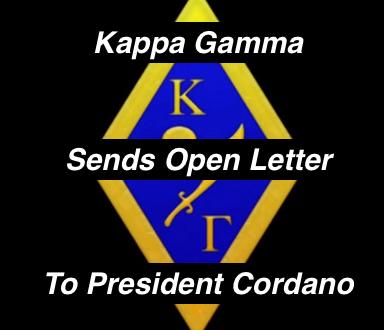 Kappa Gamma's Open Letter to President Cordano