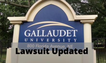 Update: Gallaudet University and The Washington Post Lawsuit